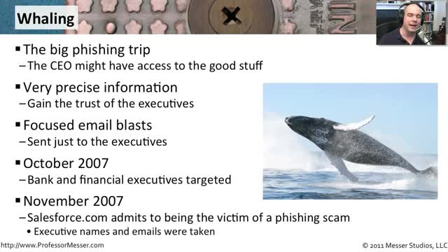 تخته سفید | Whaling - CompTIA Security+ SY0-301: 3 3