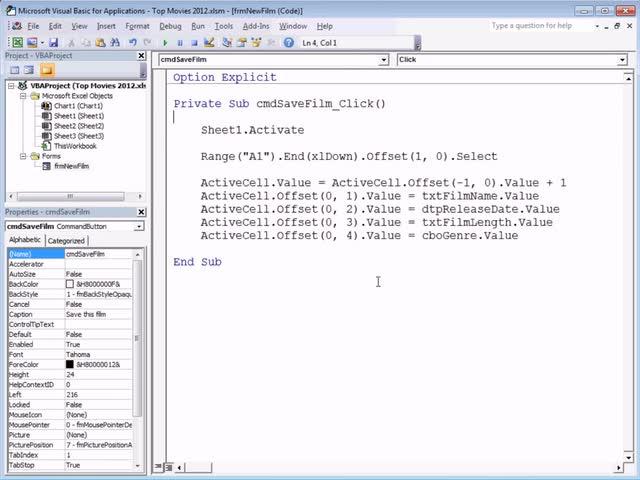 تخته سفید   Excel VBA Introduction Part 21 - User Forms