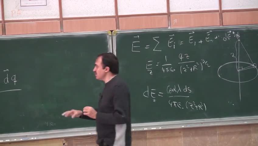فیزیک ۲ - جلسه سوم - میدان حاصل از توزیع بار . انرژی پتانسیل دوقطبی