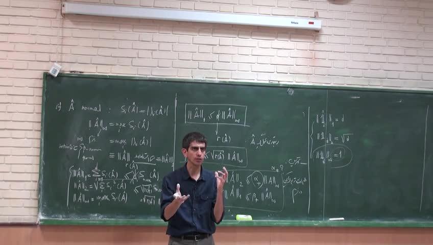 ریاضی فیزیک ١ - جلسه هجدهم - نرم ها : نرم القایی و نرم ذاتی
