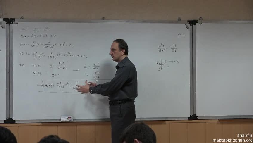 تئوری سازه ١ - جلسه دوازدهم - بارگذاری و تغییر شکل
