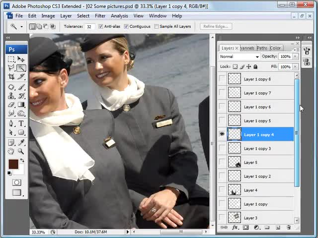 آموزش فتوشاپ (Photoshop) - جلسه 7 - روش ساخت عکس های پولارویدی