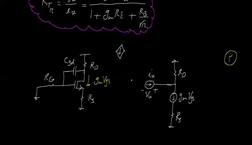الکترونیک ۲ - جلسه 53- محاسبه دو مقاومت مهم در روش ثابت زمانی های مدار باز
