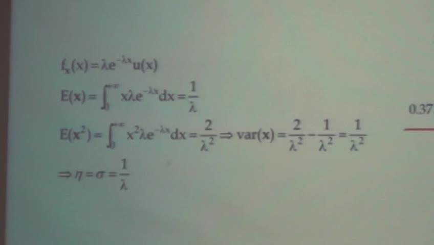 آمار و احتمال مهندسی - جلسه دهم - میانگین و واریانس توزیع های خاص و گشتاور متغیر تصادفی