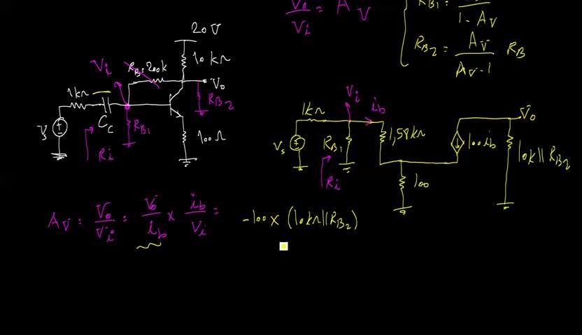 الکترونیک ۱ - جلسه 24 - حل مسئله ای از قضیه میلر