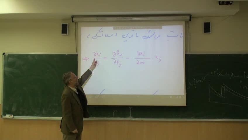 اقتصاد خرد- دوره فرعی - جلسه هشتم - معادله اسلاتسکی و بررسی اثرهای در آمدی و جایگزینی