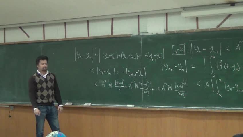 معادلات دیفرانسيل - جلسه بیست یکم - روش پیکار - دنباله کوشی