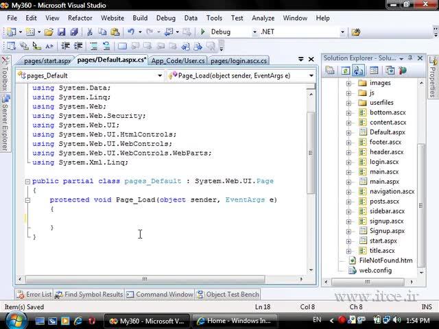 آموزش ASP.net - مبحث پروژه - My360 Login