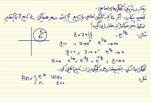 ریاضی مهندسی - جلسه بیست و چهارم- باقیمانه سری لوران