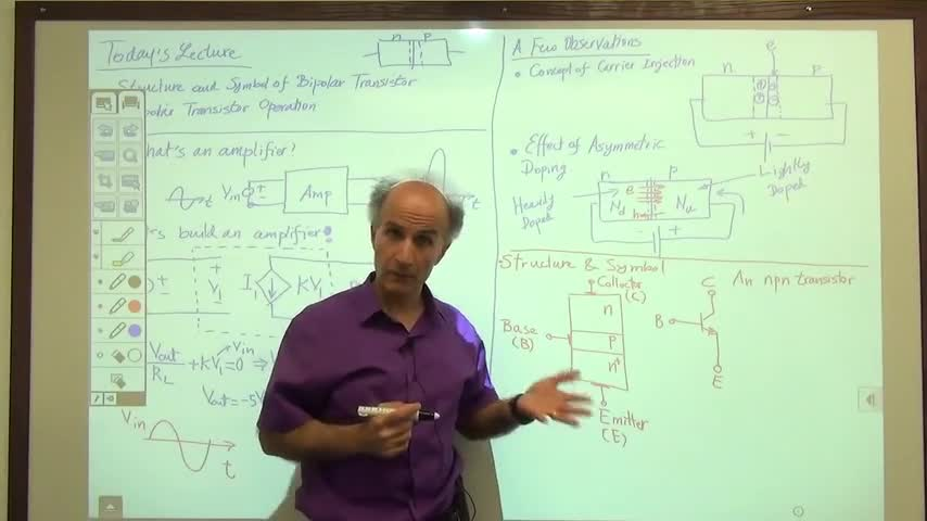 مدارات الکترونیک ۱ - جلسه سیزدهم - ساختار ترانزیستور دو قطبی
