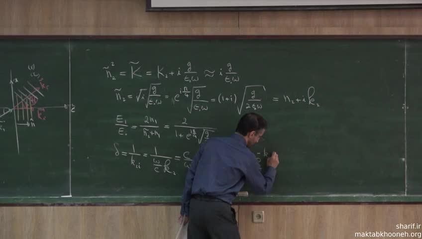 الکترومغناطیس ۲ - جلسه بیست و چهارم - انتشار موج در محیط رسانا و نارسانا