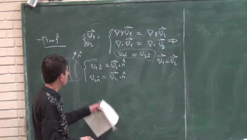 ریاضی فیزیک ١ - جلسه بیست هشتم - آنالیز برداری : پتانسیل اسکالر ، پتانسیل برداری ، قضیه هرم هولتز