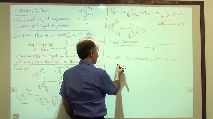 مدارات الکترونیک ۱ - جلسه بیست و یکم - امپدانس ورودی و خروجی