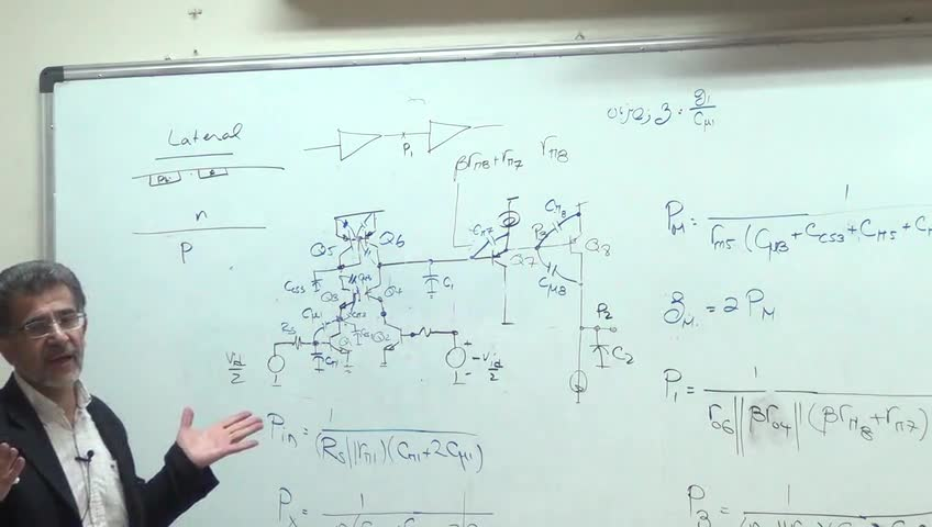 الکترونیک ۳ - جلسه دهم - رفتار فرکانسی تقویت کننده های دیفرانسیلی cascode