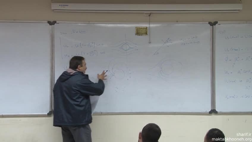 مکانیک سیالات - جلسه چهاردهم - شاره پتانسیلی (گلوله در جریان آب)