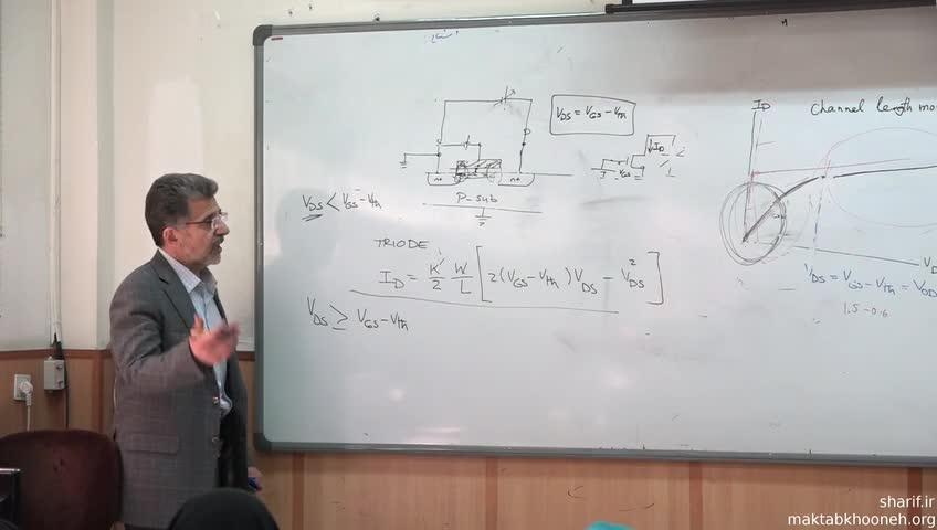 الکترونیک ۳ - جلسه بیست و هشتم - روابط حاکم بر ترانزیستورهای MOS