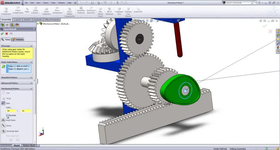 تخته سفید | SolidWorks Tutorial: Mechanical Mates by SolidWize