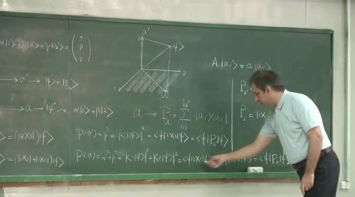 مکانیک کوانتیک - جلسه ۱۵ - اصول موضوع مکانیک کوانتومی(بخش سوم)