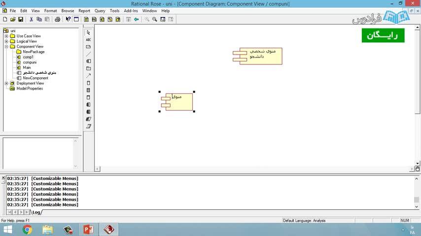 تخته سفید آموزش مدل سازی Uml با نرم افزار Rational Rose درس هشتم