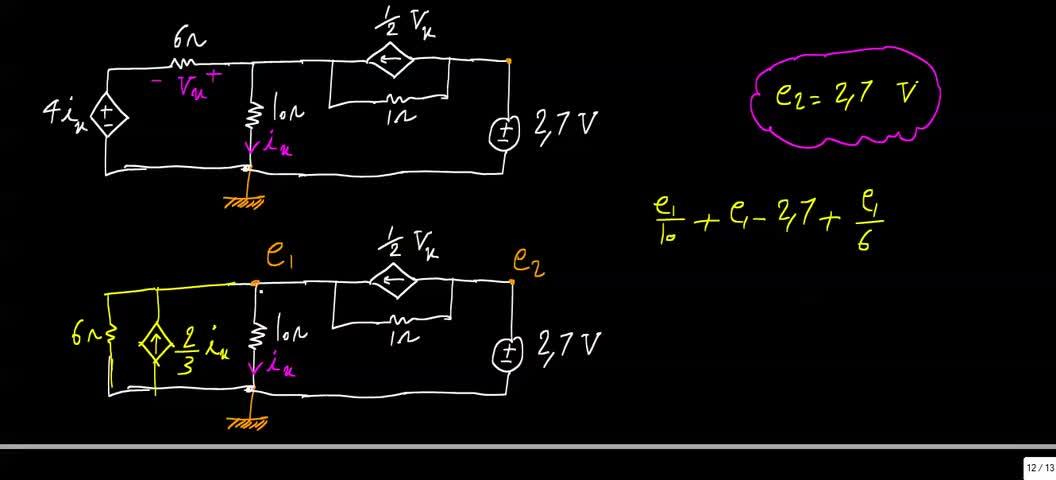 مدارهای الکتریکی ۱ - جلسه 26 - حل تمرین 5