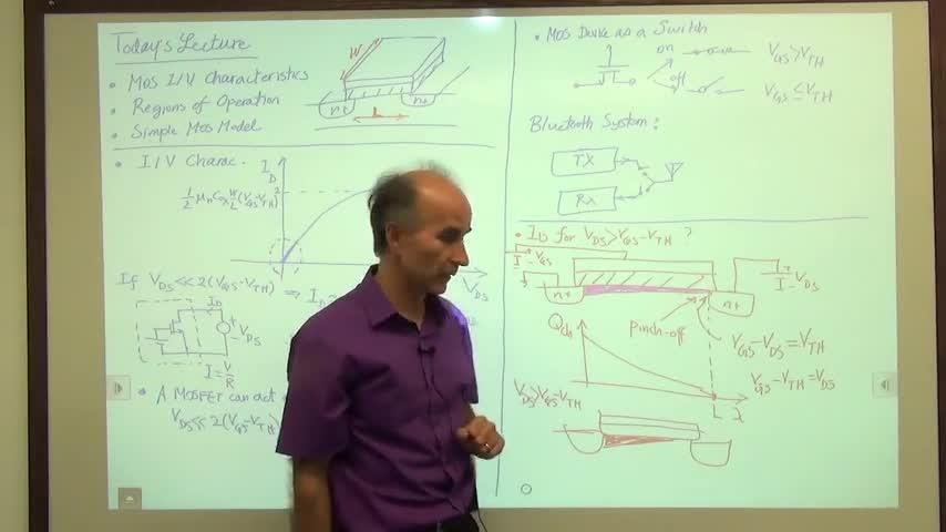 مدارات الکترونیک ۱ - جلسه سی و یکم - مشخصه MOS
