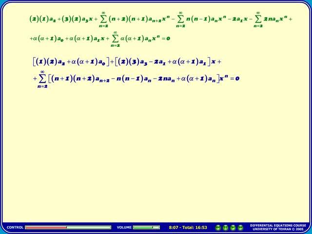 معادلات دیفرانسیل - جلسه 30 - معادلات دیفرانسیل - معادلات لژاندر