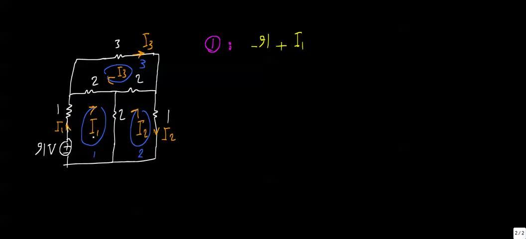 مدارهای الکتریکی ۱ - جلسه 27 - تحلیل مش
