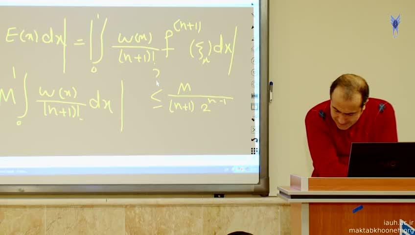 مباحثی در آنالیز عددی - جلسه بیست و دوم - حل تمرین