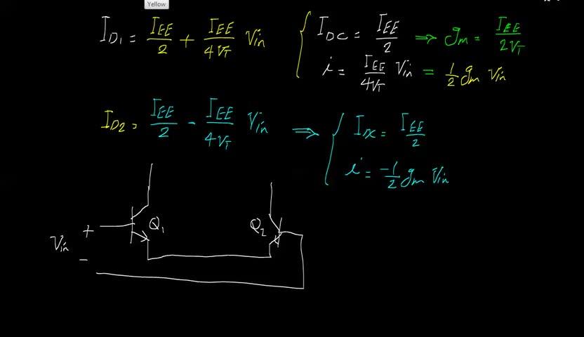 الکترونیک ۲ - جلسه 27 - تحلیل سیگنال کوچک زوج تفاضلی BJT