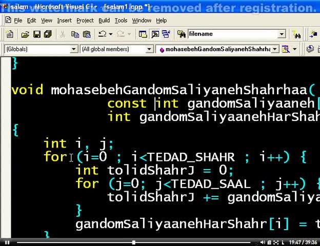 اصول برنامه نویسی C - جلسه بیست و دوم - پاس دادن آرایه ها به تابع و توابع بازگشتی