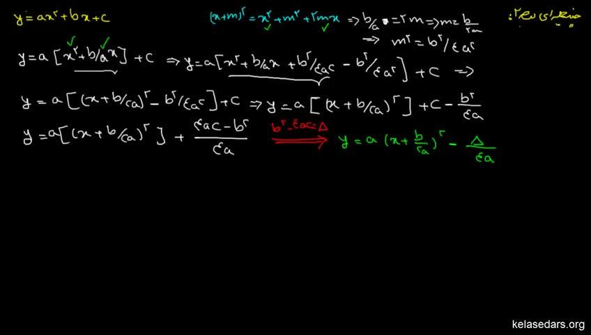 آموزش ریاضیات 2 دبیرستان - جلسه 6 - تعیین علامت چندجملهای درجه دو 2
