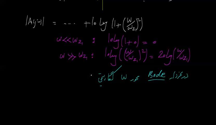 الکترونیک ۲ - جلسه 45 - تابع تبدیل، پاسخ فرکانسی، دیاگرام بودی