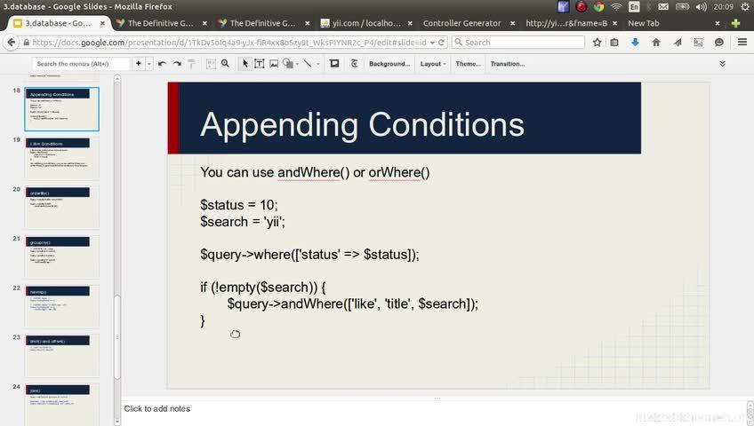 آموزش yii framework 2 - جلسه  43- orderBy groupBy having limit