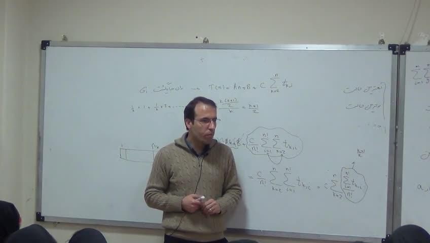 ساختمان داده ها - جلسه اول - زمان اجرای الگوریتم ها . الگوریتم مرتب سازی درجی
