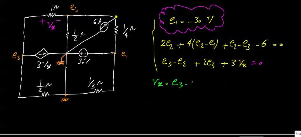 مدارهای الکتریکی ۱ - جلسه 24 - حل تمرین 3