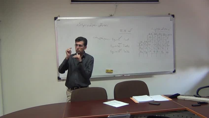 سلول های خورشیدی ۱ - جلسه سوم - الکترون آزاد - گروه های تشکیل دهنده نیم رساناها