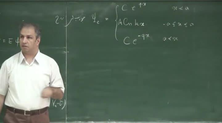 مکانیک کوانتیک - جلسه ۲۱ - چاه پتانسیل محدود ، چاه پتانسیل دلتا و مدل مولکولی(بخش دوم)