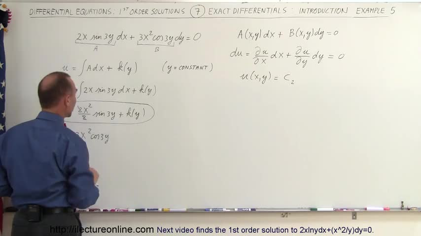 تخته سفید | Differential Equation - 1st Order Sol  (7 of 10