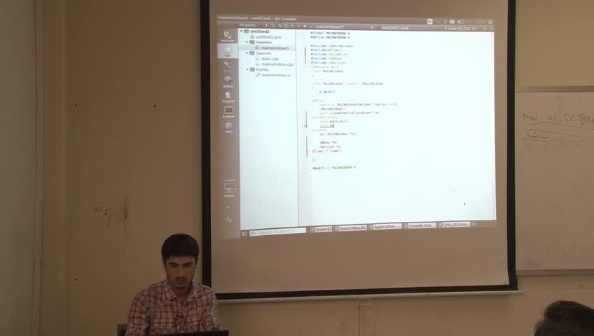 برنامه سازی پیشرفته - [حل تمرین - جلسه سوم] - Qt: Window Icon, Qmenu, Animation