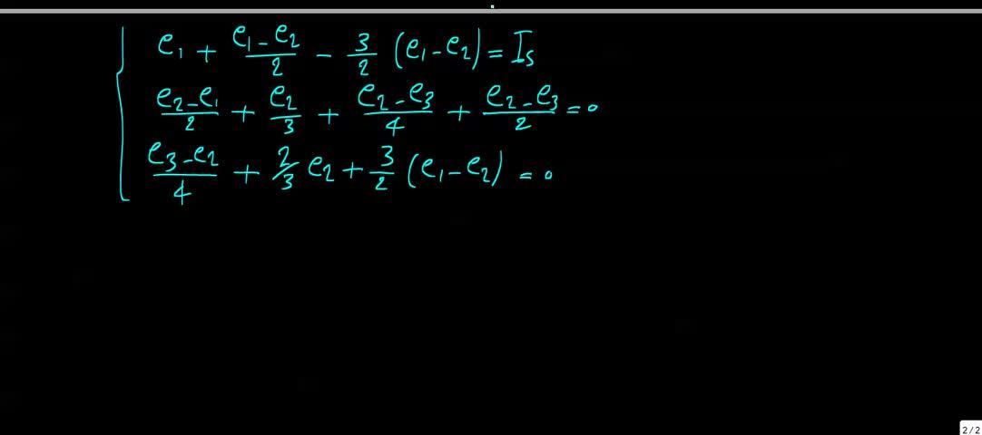مدارهای الکتریکی ۱ - جلسه 22 - حل تمرین 1
