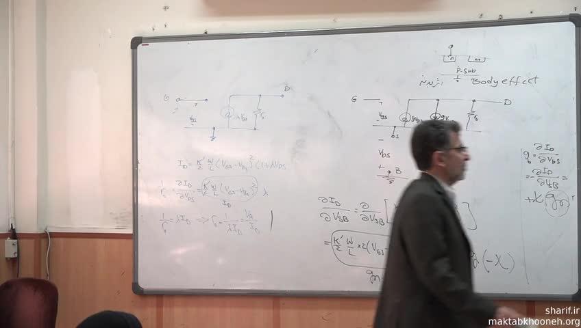 الکترونیک ۳ - جلسه بیست و نهم - مدل سیگنال کوچک ترانزیستور MOS