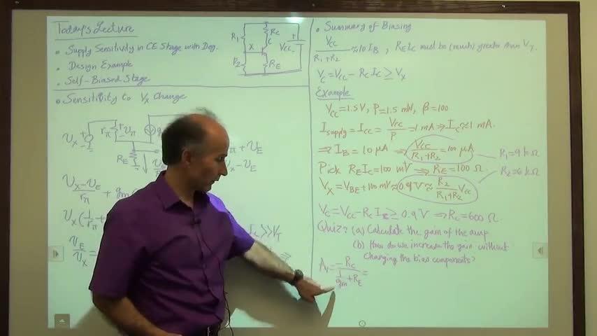 مدارات الکترونیک ۱ - جلسه بیست و پنجم - روش های بایاس کردن