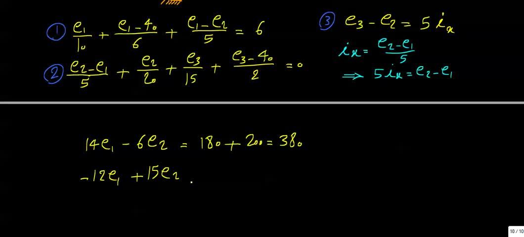 مدارهای الکتریکی ۱ - جلسه 25 - حل تمرین 4