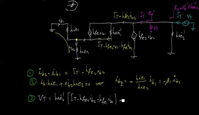 الکترونیک ۱ - جلسه 22 - دارلینگتون - ترکیب موازی ترانزیستورها.