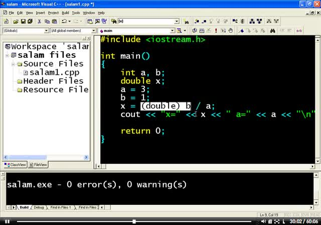 اصول برنامه نویسی C - جلسه چهارم - اعمال اولیه ریاضی