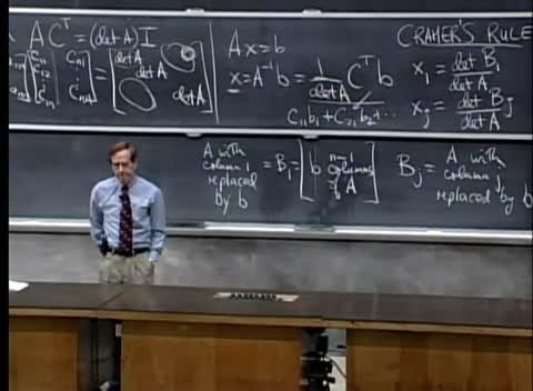 جبر خطی - دانشگاه MIT - جلسه ۲۰