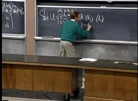 جبر خطی - دانشگاه MIT - جلسه ۱۸