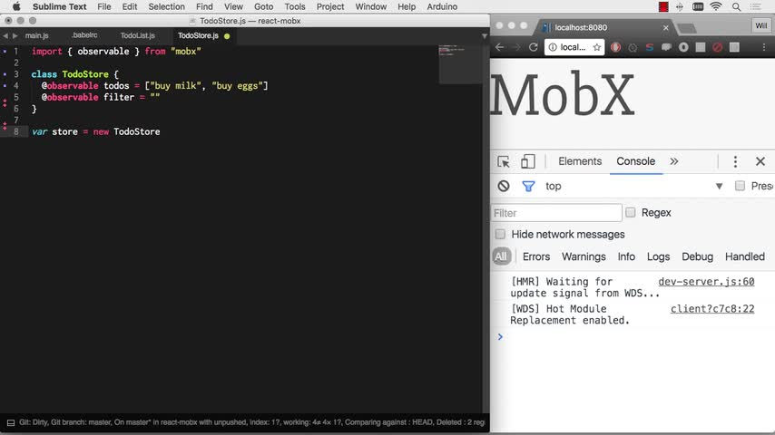 تخته سفید | MobX tutorial #1 - MobX + React is AWESOME