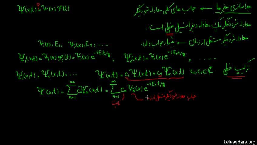 آموزش فیزیک کوانتوم به زبان ساده - جلسه 17 - جداسازی متغیرها 5
