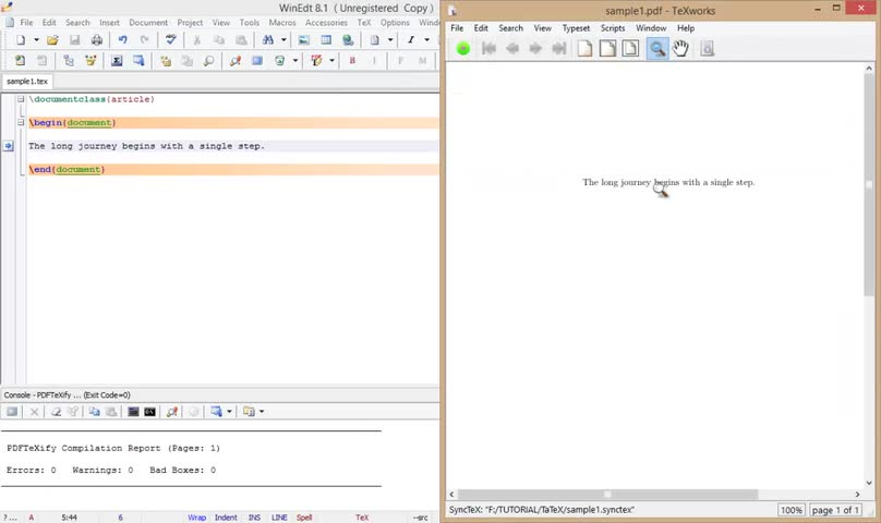 آموزش لتکس (LATEX) - جلسه اول - آشنایی با ایجاد یک فایل ساده و تولید فایل PDF